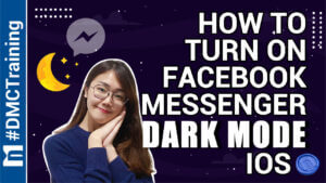 How to turn on facebook messenger dark mode IOS